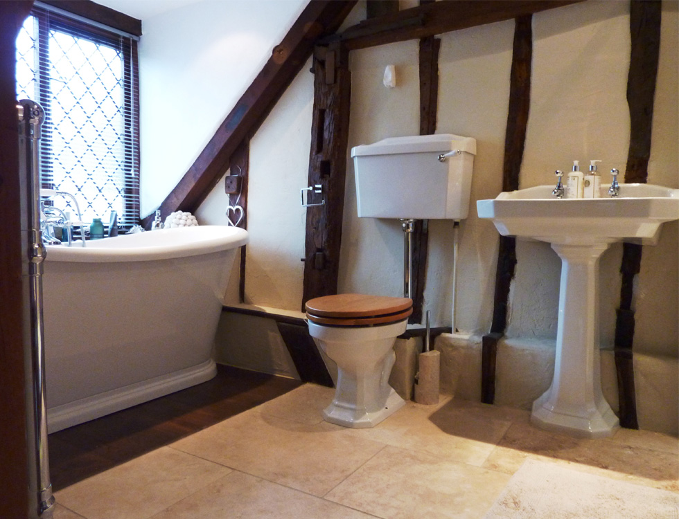 Cart lodges garages period property renovations barn for Barn conversion bathroom ideas