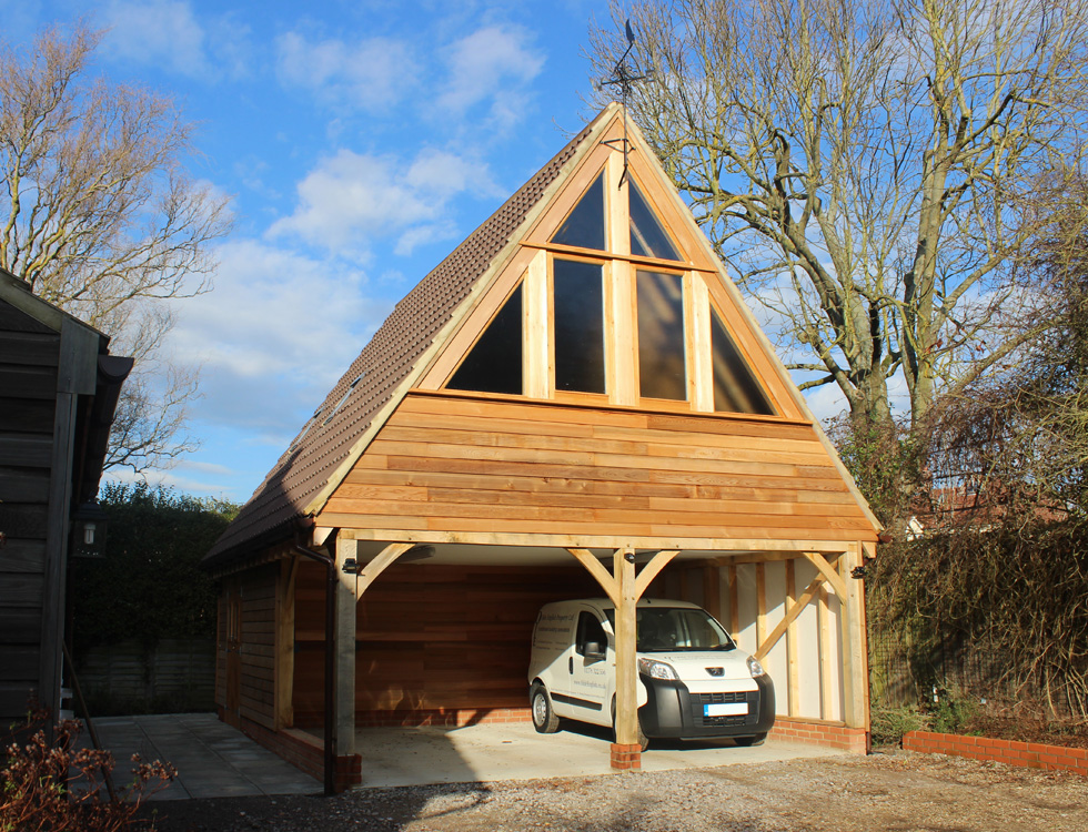 Cart lodges coach houses timber garages timber framed for Coach house garage cost