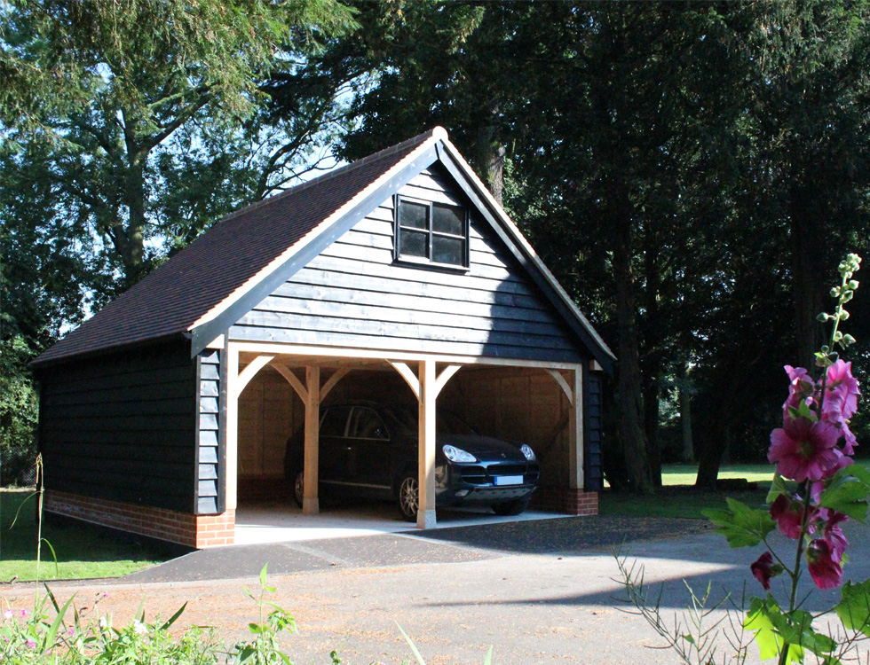 Cart lodges coach houses timber garages timber framed for Garage with accommodation